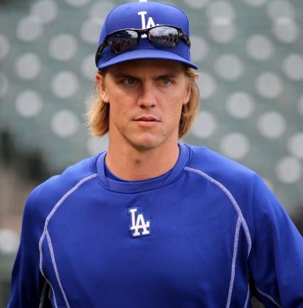 Zack Greinke looks on during batting practice.